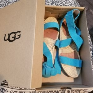 Ugg Teal leather sandals